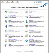 Screenshot Webportal