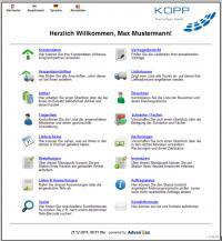 Screenshot Webportal